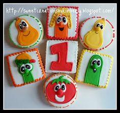 Veggie Tales cakes or cookies
