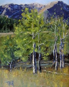 "Daily Paintworks - ""Colorado Quakies"" - Original Fine Art for Sale - © Nancy Romanovsky"