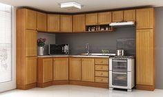 Cozinha Modulada Completa 9 Módulos Classic Cerejeira/Desenho Granito Alicante - Móveis Kochhann | Lojas KD