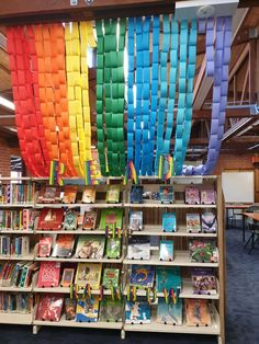 This display encouraged kids to read book by colour and it amazed me how students chose a book totally by the colour, something that they would not have read normally. 1 book that had not been borrowed for 2 years has now been borrowed 5x! Because it was purple! The Borrowers, Books To Read, Students, Display, Colour, Reading, Purple, Kids, Floor Space