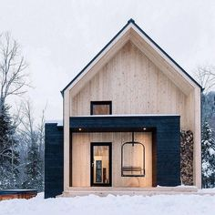 "2,660 Likes, 34 Comments - Travel Company (@epictravelpost) on Instagram: ""This minimalist cabin comes complete with a ski lift. Villa Boreale is a Scandi take on the old-…"""