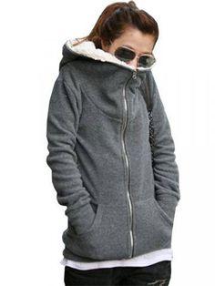 New Korea Women's Fleece Hoodie Outwear Thicken Coat-fashion,Coats & Jackets - newchic.com
