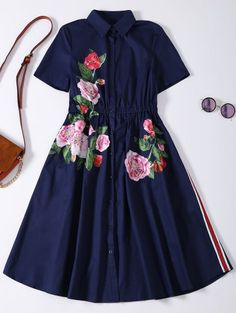 SHARE & Get it FREE | Button Up Sequins Rose Shirt Dress - Cadetblue MFor Fashion Lovers only:80,000+ Items • New Arrivals Daily Join Zaful: Get YOUR $50 NOW!