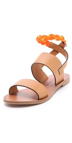 Chloe Neon Ankle Strap Sandals