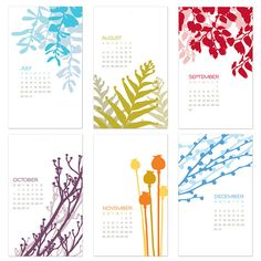 2012 Botanical Wall Art Calendar - I love this one. Think I'll get it for my kitchen...