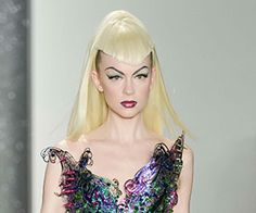 The Blonds Fall 2014 beauty looks.