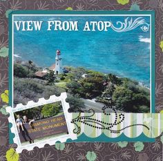 love the postcard  stamp look