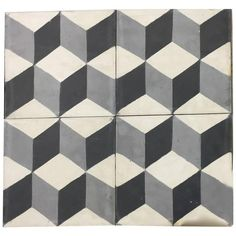 Cubist Cement Tile Haskell | From a unique collection of antique and modern architectural elements at https://www.1stdibs.com/furniture/building-garden/architectural-elements/