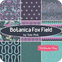 Botanica+Fox+Field+Fat+Quarter+Bundle+Tula+Pink+for+Free+Spirit+Fabrics
