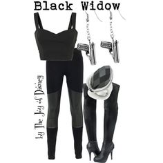 """Black Widow (Avengers)"" by thejoyofdisney on Polyvore"