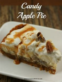 *****With a mixer combine cream cheese and sugar until smooth. Add the egg, lemon juice, lemon zest, and vanilla and beat for 1 minute or until c. Yummy Treats, Delicious Desserts, Sweet Treats, Yummy Food, Caramel Apple Cheesecake, Caramel Apples, Dessert Dishes, Dessert Recipes, Flan