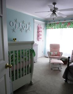 coral and aqua beach themed nursery cocos baby pinterest