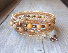 Fall Sparkle Multi Strand Memory Wire Wrap by McHughCreations, $23.95