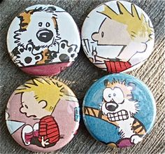 Calvin and Hobbes Upcycled Magnets...hmmmmmm???