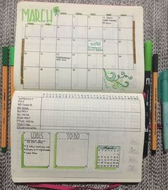 My monthly layout for march bujo idee per diario,idee diario Bullet Journal With Calendar, Monthly Bullet Journal Layout, How To Bullet Journal, March Bullet Journal, Bullet Journal Notebook, Bullet Journal Spread, Bullet Journal Ideas Pages, Bullet Journal Inspiration, Journal Pages