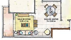Você muda prá lá, muda prá cá e nunca fica satisfeita(o) com a distribuição dos móveis na sua sala? Esta é uma situação comum, ainda mais quando a sala é pequena, irregular e tem muitas portas e janelas. E o pior: Não há uma só solução porque uma sala pode ter infinitos formatos! O que pode lhe ajudar são estas regrinhas básicas...