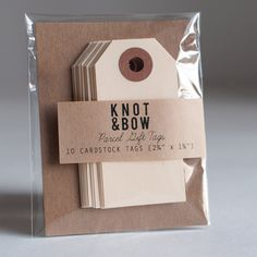 Craft gift tags  (Photo: Knot & Bow)