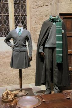 The official male and female Slytherin costumes.                                                                                                                                                                                 More