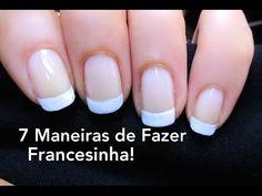 7 maneras de hacer las uñas Francesinha! ¡Paso a paso! 7 maneras a las uñas francesas!