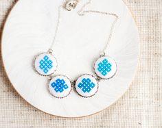 Ombre+Halskette+-+Gradient+blau+von+Skrynka+auf+DaWanda.com