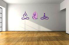 yoga wall decal  yoga studio  sport hall  yoga sign  by svetulka, $35.00