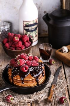 pancakes with fresh raspberries by azourabova #food #yummy #foodie #delicious #photooftheday #amazing #picoftheday