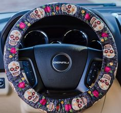 Floral Candy Skulls  Sugar Skulls Padded by FireflyCreations42