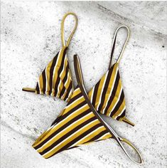 stripe bikini set mustard swimsuits triangle designer swimming clothes. Save an extra 10% off sitewide by code : worthtryit Plus Free Shipping $60+ New Year Sale