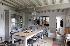 Прованс в интерьере столовой   #балки #прованс #столовая