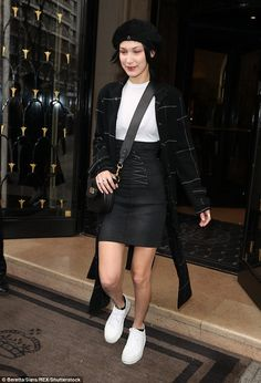 Paris perfection! Bella Hadid, 20, seemed to have taken well to the fashion capital of the world as she channelled Parisian flair while stepping out and about during PFW on Friday