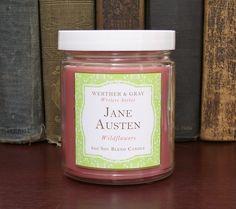 JANE AUSTEN, Soy Blend Candle, 8 oz Jar