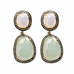 Agave Blue Earrings at http://www.arhausjewels.com/product/ea1262/earrings. $680.00 #arhausjewels #earrings #pastel