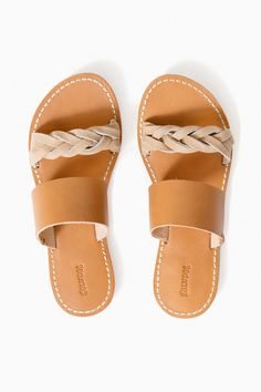 8b2514479 Braided Slide Sandal in Acorn Brown by Soludos - Tnuck