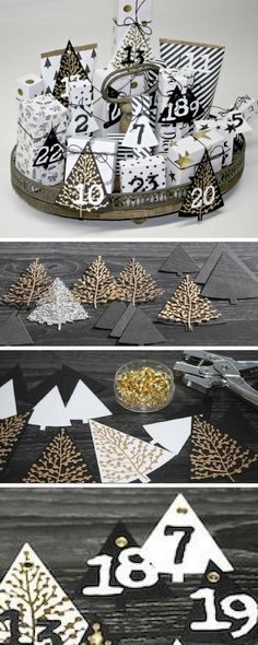 #Christmas advent calendars are nice, but how about a #handmade advent village! Learn how to make your own in this #Sizzix step-by-step tutorial - #handmadecrafts #DIYprojects #diycrafts #christmasdecor #christmascrafts #diychristmas #handmadechristmas