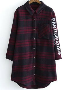 SHARE & Get it FREE | Letter Pattern Tartan ShirtFor Fashion Lovers only:80,000+ Items • New Arrivals Daily Join Zaful: Get YOUR $50 NOW!