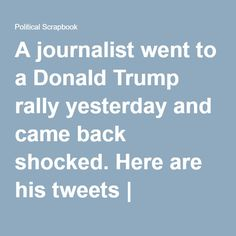 One American journalist went there and quietly observed what was going on. He came back shaken and scared. Jared Yates Sexton is a writer and political correspondent from the state of Georgia. Yesterday, Donald Trump held a rally in Greensboro, North Carolina. Sexton […]