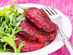 Punajuuripihvit - Reseptit Balela Salad Recipe, Wine Recipes, Salad Recipes, Broccoli Crust Pizza, Beetroot, Couscous, Beets, Tandoori Chicken, Vegetarian Recipes