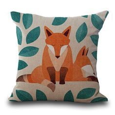 Fox Printed Pillow Covers