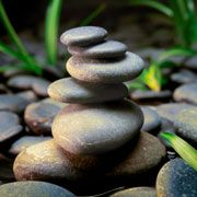 Japanese zen stone meditation water garden with stacked stones royalty-free stock photo Wabi Sabi, Image Zen, Mini Jardin Zen, Basalt Stone, Tableau Design, Yin En Yang, Sticks And Stones, Stone Art, Spa Day