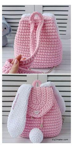 Crochet Backpack Pattern, Crochet Purse Patterns, Bag Crochet, Handbag Patterns, Crochet Handbags, Crochet Purses, Crochet Gifts, Crochet Clothes, Crochet Stitches