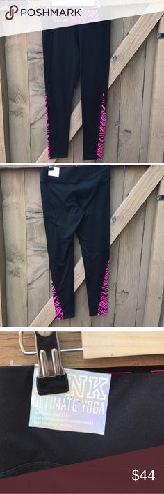 VS Pink NWT size M ultimate yoga leggings NWT size M VS Pink ultimate yoga leggings: BIN 5 PINK Victoria's Secret Pants Leggings