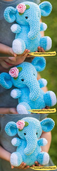 CROCHET PATTERN Elephant This crochet pattern contains a detailed description of how to create Elephant, with a great amount of step-by-step photos and a list of necessary materials. Crochet Elephant Pattern, Crochet Animal Patterns, Crochet Patterns Amigurumi, Crochet Animals, Cute Crochet, Crochet Crafts, Crochet Projects, Knitting Projects, Crochet Instructions