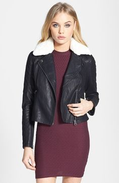 Free shipping and returns on Topshop 'Jenson' Faux Fur Collar Biker Jacket at Nordstrom.com. Get down and dirty in any terrain in a quilted moto-style jacket topped with a super-plush faux-fur collar.