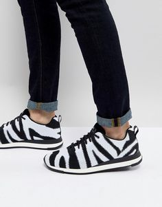 PS Paul Smith Rappid knitted zebra sneaker in black white aa5820363