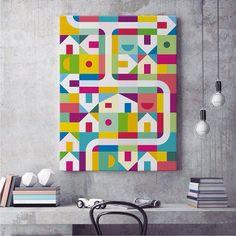Follow @danielperfeito_art  for more great art work! Geometric  Colorful  Artes digitais bem bacanas!!! Confira mais em @danielperfeito_art Canvas  Posters @danielperfeito_art  by arqsketch