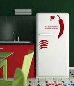 kitchen-stickers Fridge Decor, Kitchen Stickers, Decals, Future, Diy, Home Decor, Tags, Future Tense, Bricolage