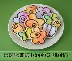 Easy Painted Flower Cookies | Klickitat Street