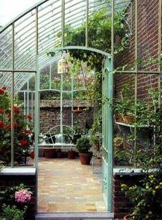 Serre en m tal effet rouille h 252 cm tuileries m taux recherche et serres - Recherche serre de jardin ...