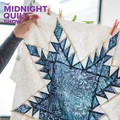 In this episode of the Midnight Quilt Show, Angela Walters shows you how to tackle partial seams on the feathered star quilt block. Includes free quilting diagrams and machine quilting tips!