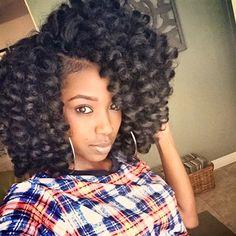 voiceofhair:  HAIRSPRIATION  Crushing on this #crochetbraids bob on @court_court_court➰➰➰ Beautiful curls❤️#VoiceOfhair